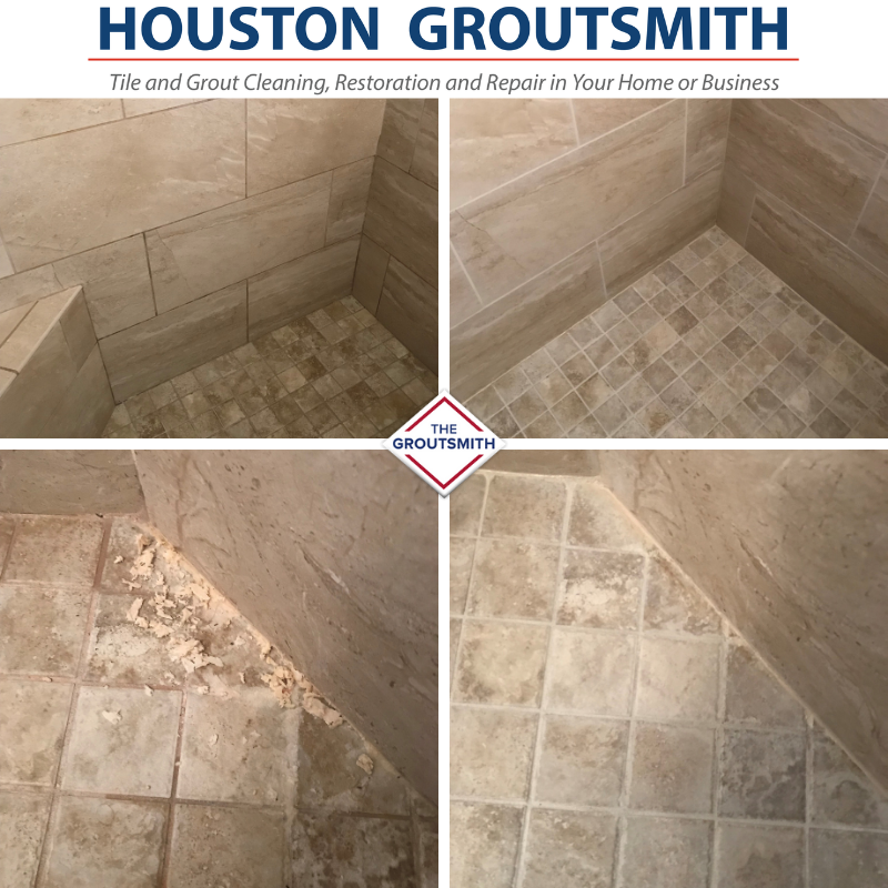 Shower grout and tile restoration