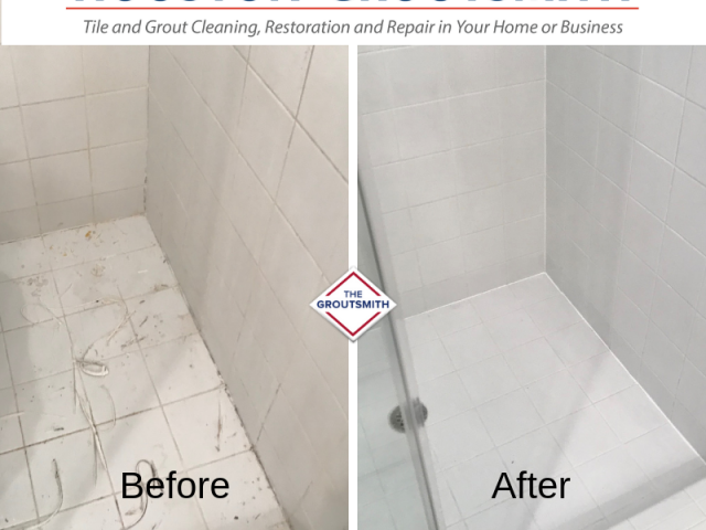 Shower Before & After | Houston Groutsmith